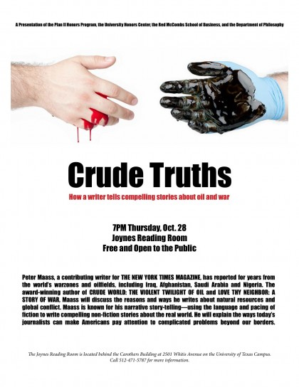 Crude Truths–the Talk, the Flyer