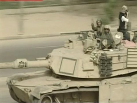 Photographer on First Tank Into Firdos